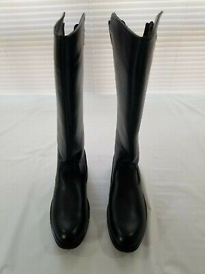 Men's Tall Leather Police Motorcycle Boots Size 11.5