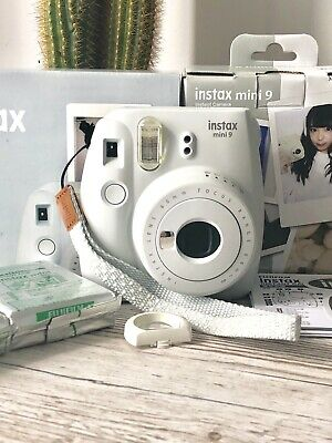 Fujifilm Instax Mini 9 Smokey White Instant Camera + 30 Shots Bundle