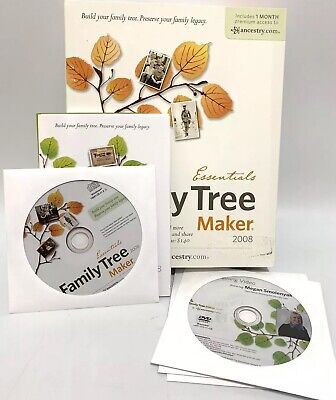 Family Tree Maker 2008 Essentials - Full Version Windows Vista Ancestry COMPLETE