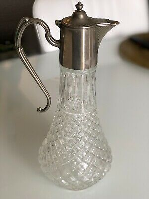 Antique E.P. Zinc pitcher/jug/decanter/carafe silver plated. Made in england