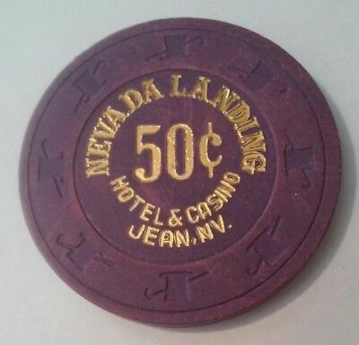 Nevada Landing Hotel Casino Jean, Nevada Hard To Find .50 Cent Gaming Chip!