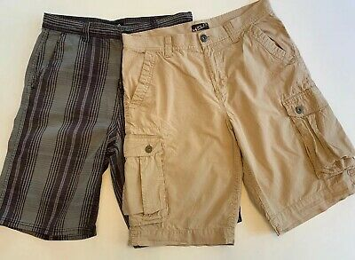 Lot Of Two Pairs Mens Shorts Size 32 HELIX, LRG Brand Cotton Casual