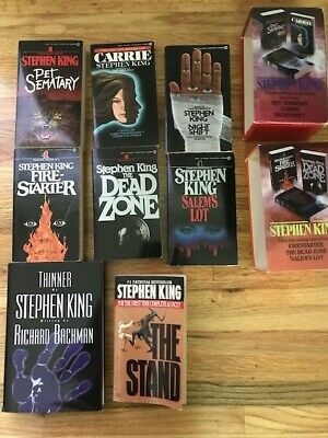 Stephen King Paperback 8 Book Lot Pet Sematary, Carrie, Firestarter, The Stand