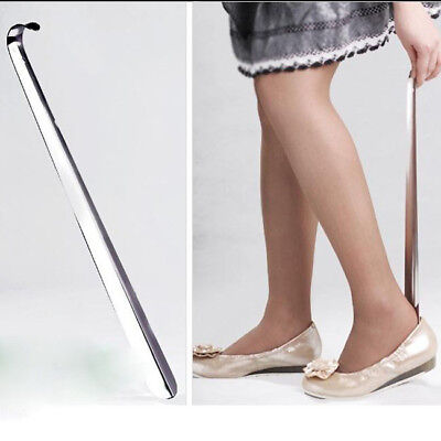 Metal Shoe Horn Arm-Extended Long Handle Lifter Durable Household Shoehorn D