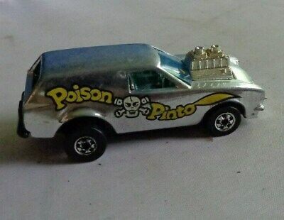Mattel 1975 VINTAGE HOT WHEELS Poison Pinto Die-Cast Car Silver