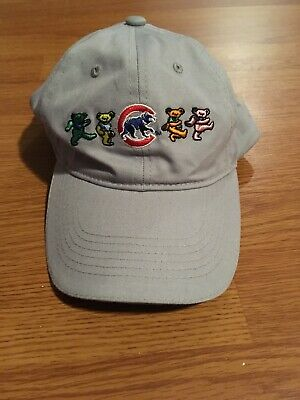 Chicago Cubs Grateful Dead Night Hat With Dancing Bears 8/27/18 Wrigley Field