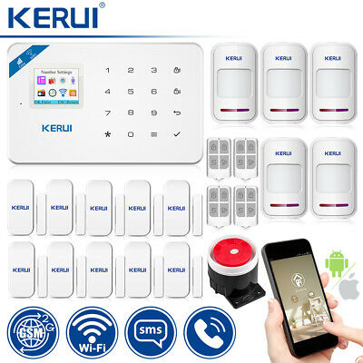 Kerui W18 Wifi 2G Home Gsm Alarm System With 5 PIR 10 Door Sensor 4 Remote