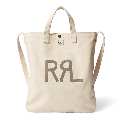 155d40460fd New NWT RRL Ralph Lauren Seeded Canvas Market Tote High Density Cotton