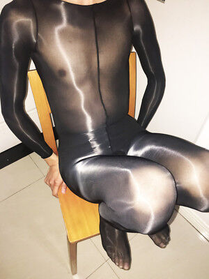 High Quality Men Bodysuit Sheer NYLON Super shiny bodyhose bodystocking Trunk