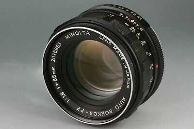 AS-IS Minolta Auto Rokkor PF 55mm F/1.8 MF Lens MD MC From JAPAN