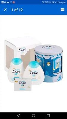Baby's gift set Dove Lullaby Musical Tin gift set