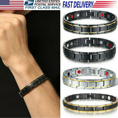 US Unisex Therapeutic Energy Magnetic Bracelet Therapy Arthritis Health Care New