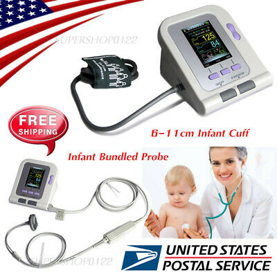 USA FDA Infant Blood Pressure Monitor+Bundled SPO2 PROBE Software 6-11cm cuff
