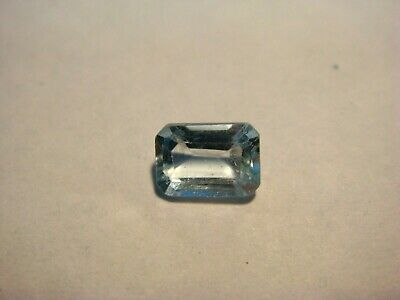 Blue Topaz Emerald Rectangular Cut Gemstone 7 mm x 5 mm 1 carat unique Gem