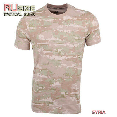 cd3bcbce Russian military camo t-shirt SYRIA XS-5XL 100% cotton Army Airsoft Hiking