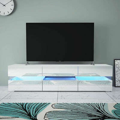 Modern LED Light TV Unit Stand Cabinet High Gloss Wall Sideboard Cupboard