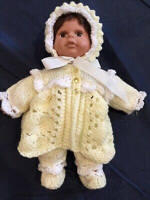 Hand Knitted Dolls Clothes For 11 Inch Doll