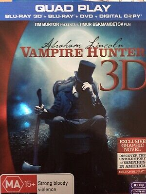 ABRAHAM LINCOLN VAMPIRE HUNTER - BLURAY 2012 *2D Disc Only No 3D or DVD Disc*