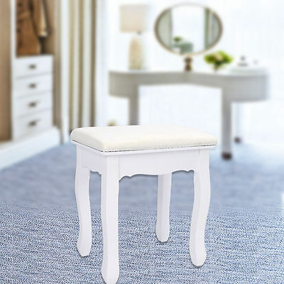 Vintage Stool Piano Chair Dressing Table White Decor Padded Makeup Seat baroque