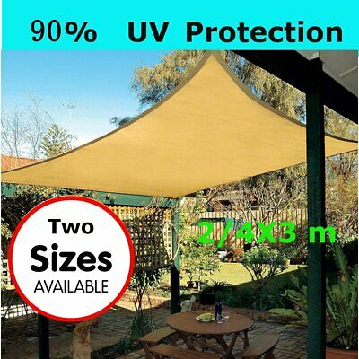 4M Sun Shade Sail Outdoor Garden Waterproof Awning Canopy Patio Cover UV Block