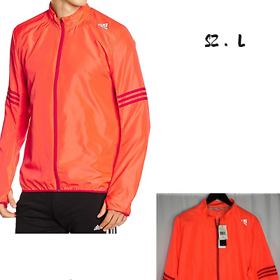 Adidas Men's Solar Red/Ray Reds Response Wind Men's Jacket Size L