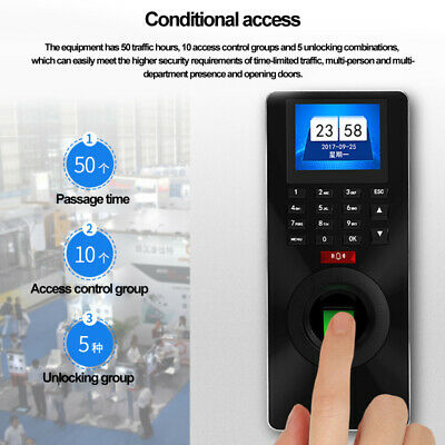 ZK-FP18 Fingerprint Password ID Card Time Attendance Access Control System New