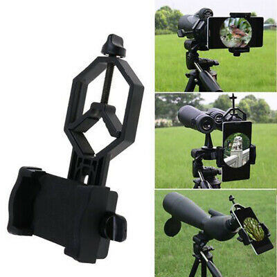 Universal Mobile Phone Holder Clamp Spotting Scope Cellphone Adapter Mount ghj