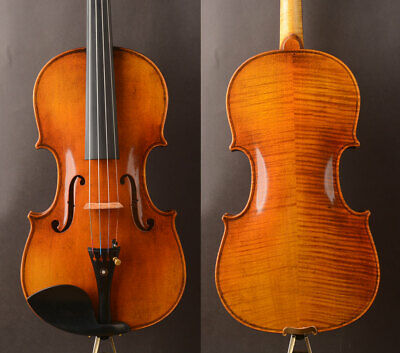 """Oil antique!A Strad 1715 """"The Cremoneser""""Copy! A M20 Violin,strong clear bright"""