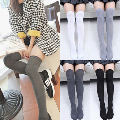 9945af81c213e Sexy Women Knit Cotton Over The Knee Long Socks Spring Thigh High Stocking  Socks