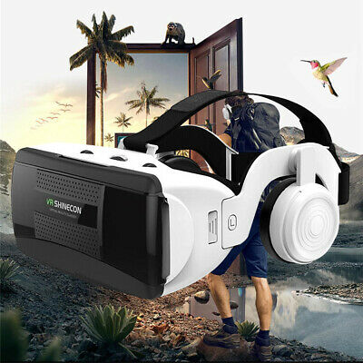 """Shinecon VR Virtual Reality 3D Glasses with Headset for 4.7""""-6.1"""" Smartphones"""