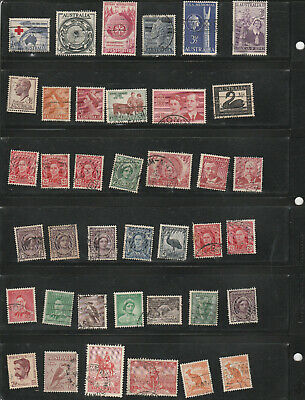 1 lot of (59) Australian stamps, used, off paper