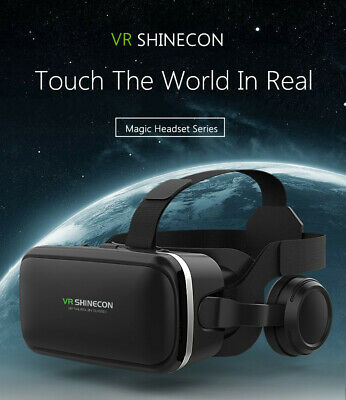 VR SHINECON 6.0 Virtual Reality 3D Glasses with Headset For Samsung LG iPhone