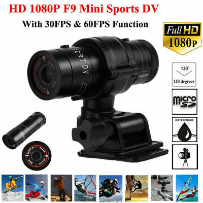 Mini F9 HD 1080P Sport Action Camera Video Helmet DVR DV Camcorder for Cycling