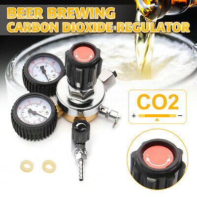 W21.8 Dual Gauge CO2 Regulator Beer Carbon Dioxide Bar Soda Draft Beer Home Brew