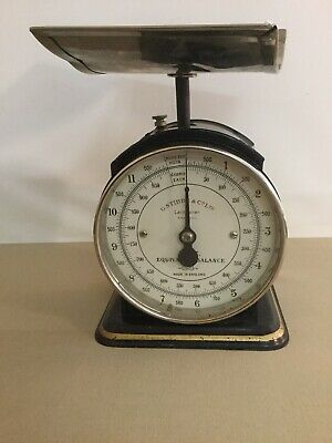 antike Waage Stibbe&Co Leicester England  Equivalent Balance 26cm hoch