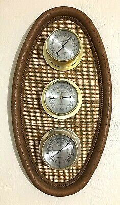 Vtg Springfield Weather Station Temperature Barometer Humidity Gauge Made in USA