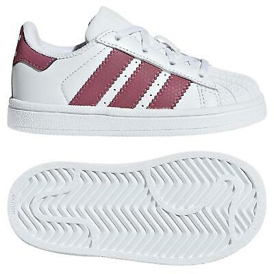 on sale f6df8 2bad0 adidas ORIGINALS INFANTS SUPERSTAR TRAINERS SHOES WHITE 3 STRIPES SHELL TOE  NEW