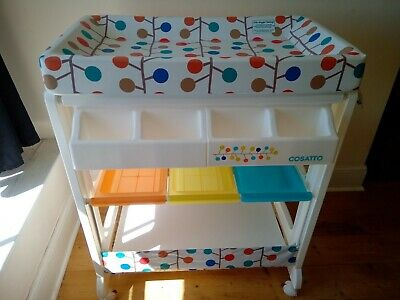 Cosatto baby changing station and bath, brightly coloured, never used, perfect