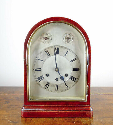 Antique Mantel Clock by Gustav Becker Germany Westminster Chiming 8 Day 1920s