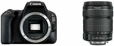 158198 Canon EOS 200D + EF-S 18-135/F3.5-5.6 IS STM SLR Camera Kit 24.2MP CMOS 6