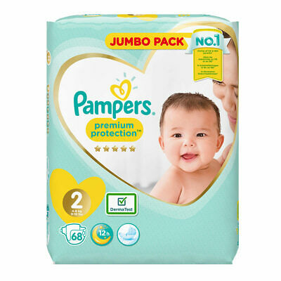 Pampers Premium Protection Size 2 Nappies, 68 nappies