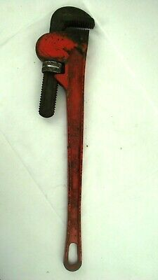 """Pipe Wrench 24"""" Orange Heavy Duty Drop Forged Jaws"""