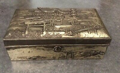 Vintage Silver Plated Japanese Box