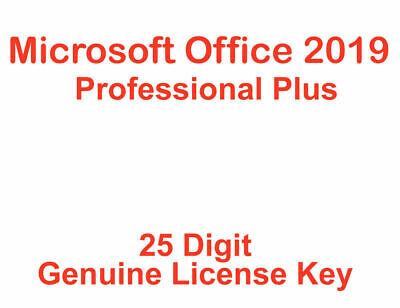 Office Professional Plus 2019 Genuine License Key, Lifetime Activation