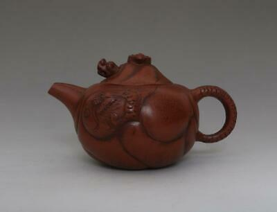 Rare Chinese Yixing Handmade Zisha Purple Sand Teapot Zhu Kexin Marked (498)
