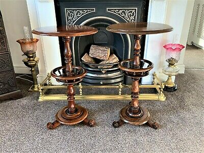 Fine Pair Period Antique William Iv (Circa 1835) Mahogany Work Wine Tables
