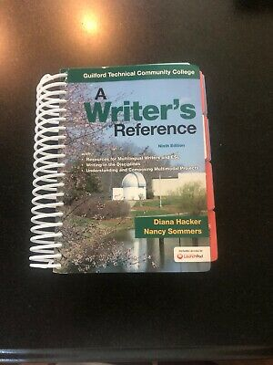 A writers reference 9th edition diana hacker | A Writer's