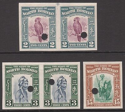 North Borneo 1939 Mint Imperf Plate Proofs Waterlow & Sons Gv1