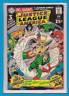 JUSTICE LEAGUE OF AMERICA #67_DECEMBER 1968_VG/F_GREEN ARROW_80pg GIANT_G-53!