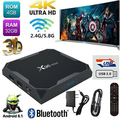 X96 MAX QUAD Core Android 8 1 TV Box DDR4 4G 32G 64G Set top